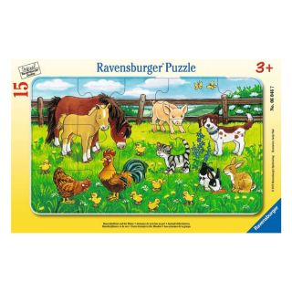 FARM ANIMALS IN THE MEADOW 15 PCS