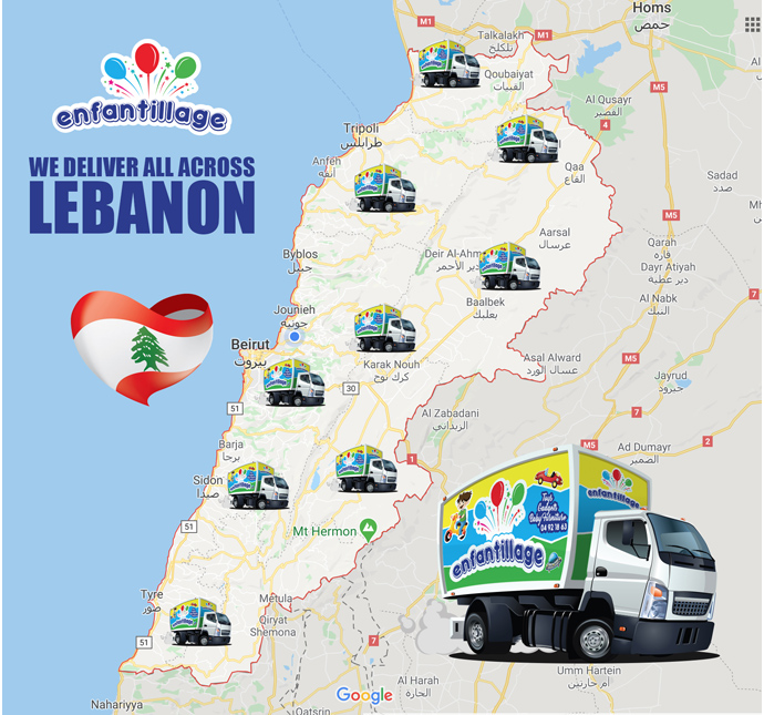 We Deliver All Across Lebanon