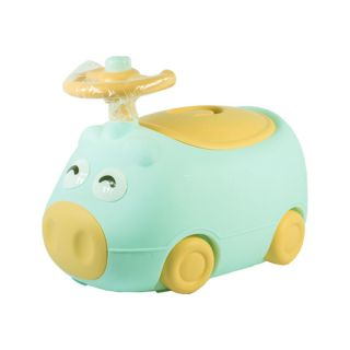 BABAMAMA POTTY SEAT PIG WITH STEERING WHEEL (GREEN)