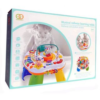 GOODWAY MUSICAL RAILWAY LEARNING TABLE
