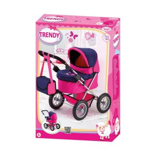 BAYER DOLL CARRIAGE TRENDY - PINK AND PURPLE