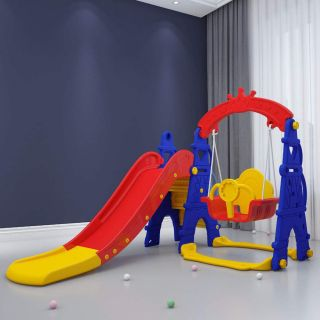 LZE SLIDE AND SWING,BALL FRAME ,FULLY STEP AND ROPE CONNECTION
