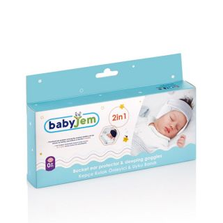 BABY JEM BUCKET EAR PROTECTION AND BABY BAND