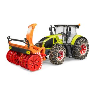 CLAAS AXION 950 WITH SNOW CHAINS AND SNOW BLOWER