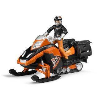 SNOWMOBILE WITH DRIVER AND ACCESSORIES