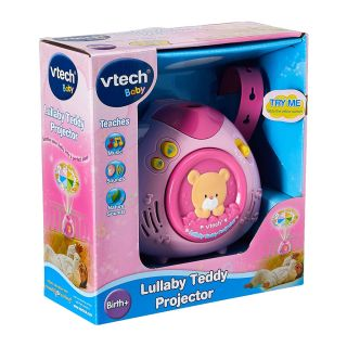 LULLABY TEDDY PROJECTOR ENGLISH PINK