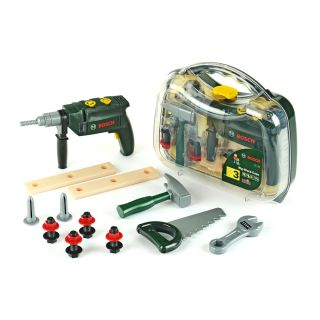 BOSCH TOOL CASE, BIG, WITH DRILL, TRANSPARENT