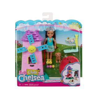 BARBIE CLUB CHELSEA MINI GOLF DOLL AND PLAYSET WITH PUPPY DOG GOLF SET