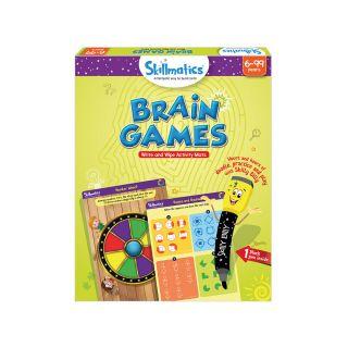 BRAIN GAMES,WRITE & WIPE ACTIVITY MATS