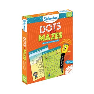 DOTS AND MAZES,WRITE & WIPE ACTIVITY MATS