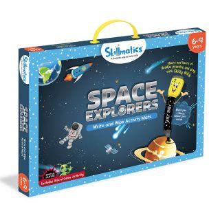 SPACE EXPLORERS,WRITE & WIPE ACTIVITY MATS