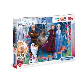 DISNEY FROZEN 2 3D VISION PUZZLE Puzzle 104 PCS
