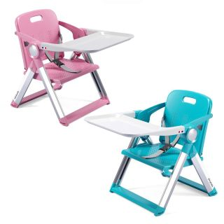 PLAYKIDS PORTABLE BOOSTER DINING CHAIR (PINK / BLUE)